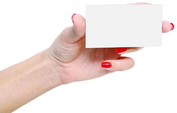 Removal of Acrylic Nails Using Laminated Business Card