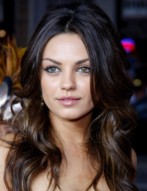 Mila Kunis's Center-Parted