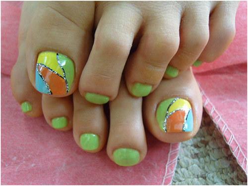 Multi colored thumb
