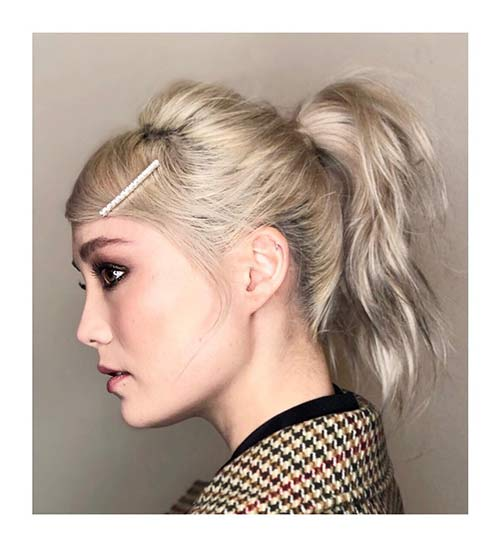 Pinned Ponytail