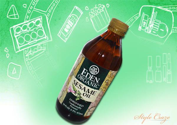 Sesame oil provides