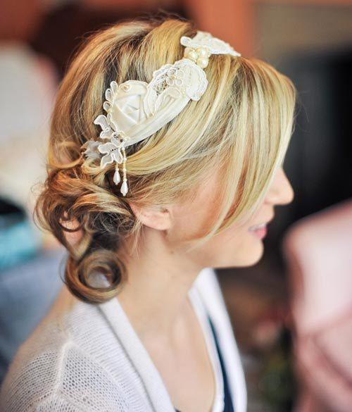 Side Pinned Bun hairstyle