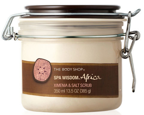 Spa Wisdom Africa Ximenia Salt Scrub - Dia Mirza's Beauty Secrets
