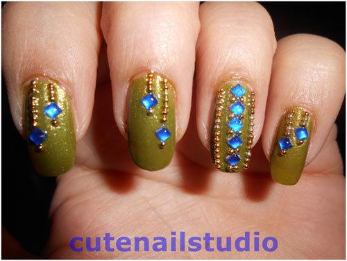 wedding day nail designs