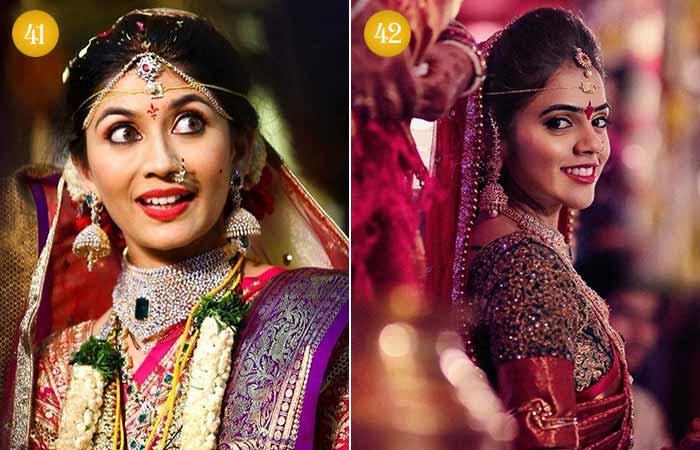 Beautiful Indian Bridal Makeup Looks - Telugu Bridal Makeup Looks 1 & 2