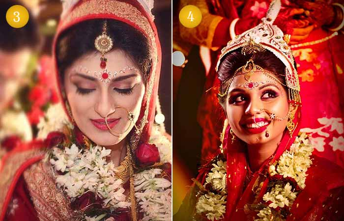 Beautiful Indian Bridal Makeup Looks - The Bengali Bridal Look