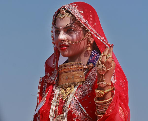 Most Beautiful Indian Bridal Looks - The Rajasthani Bridal Look