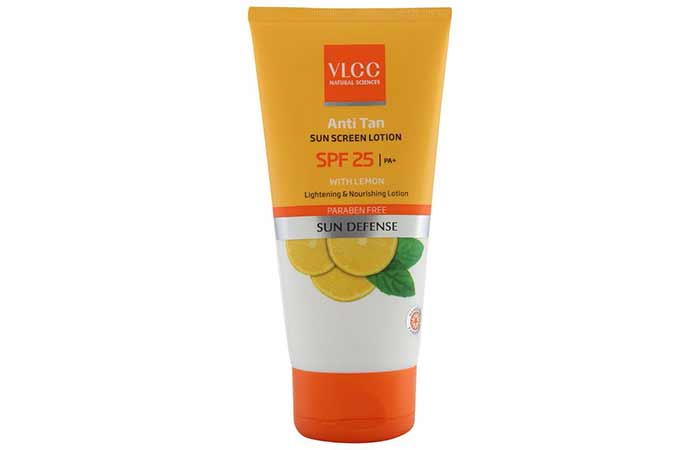Best Sunscreens In India - VLCC Anti Tan Sunscreen Lotion SPF 25