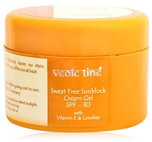 vedic line sweat free sunblock cream gel spf 30