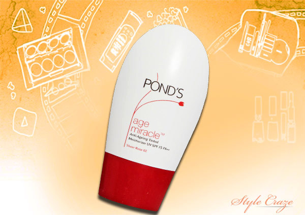 ponds age miracle tinted moisturiser