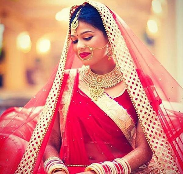 Beautiful Indian Dulhan Makeup Looks - Simple Punjabi Bridal Look