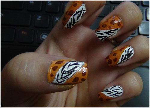 brown nail polish