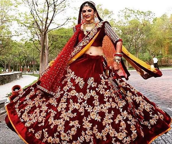 Beautiful Indian Dulhan Makeup Looks - Bridal Makeup Look In Maroon Red