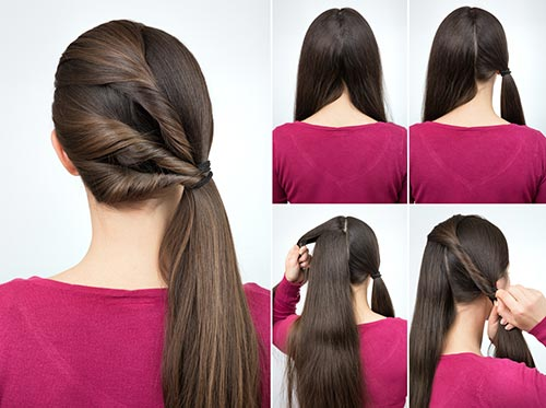 18. Triple Twisted Ponytail