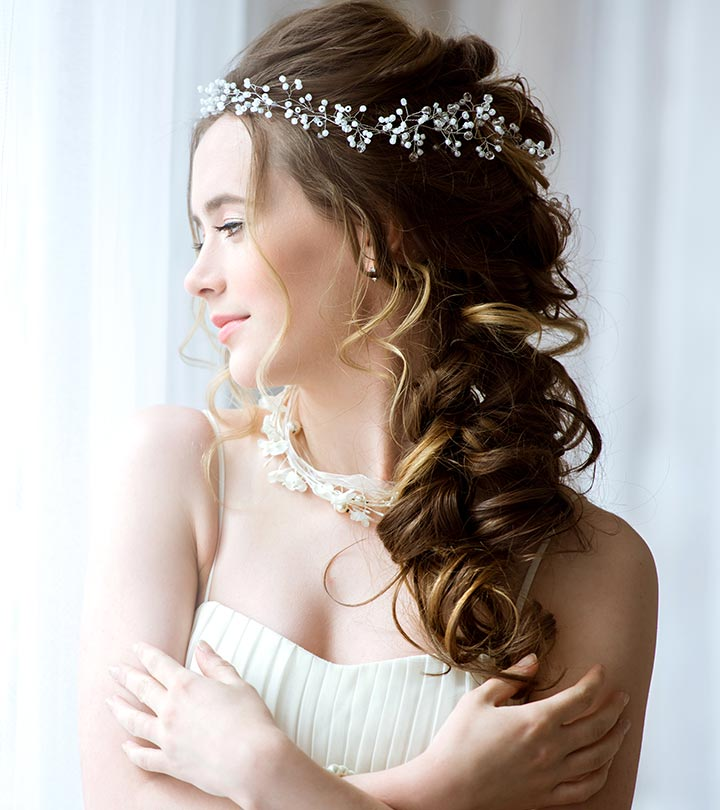 Hairstyles For Girls In Wedding: 4 Perm Bridal Hairstyles That You Can Try Right Too