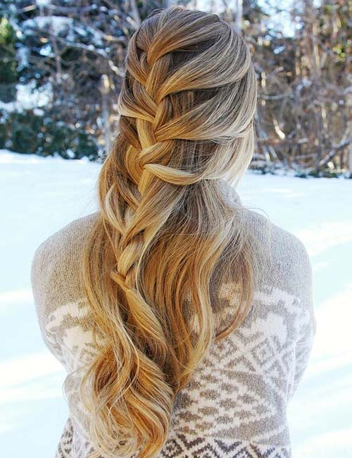 4. Loose Half French Braid