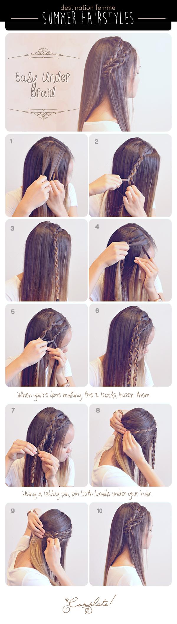 5. Easy Under Braids