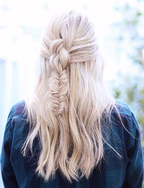 8. Mixed Half Up Braid
