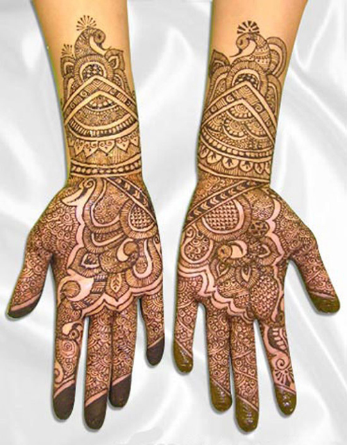 Arabic Henna Mehndi Designs For Brides
