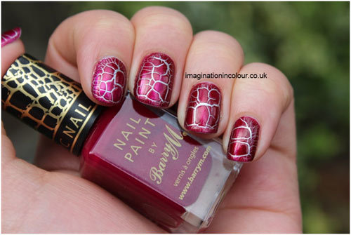 Barry M Burgundy Croc Effects
