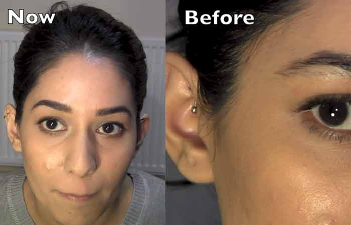 Eyebrow Threading - Before And After