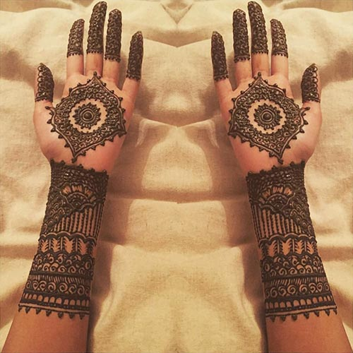 Colored Mehendi Design