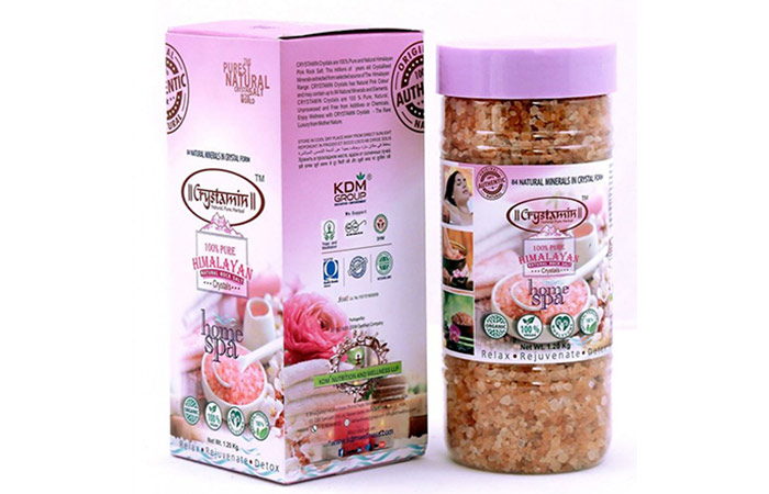 Crystamin Himalayan Natural Rock Salt - Best Bath Salts