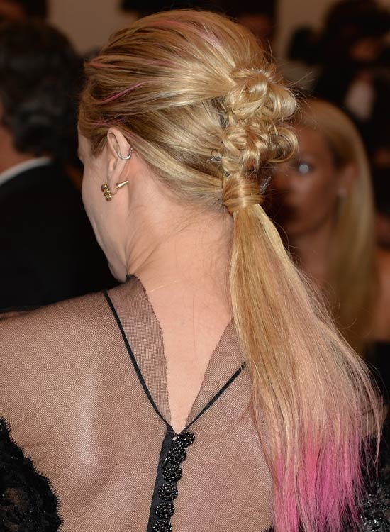 Hair-Wrapped-Low-Ponytail-with-Twisted-Top