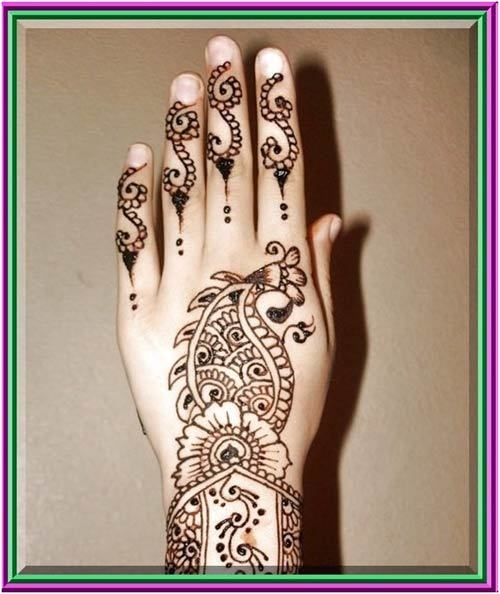 Indian mehandi design