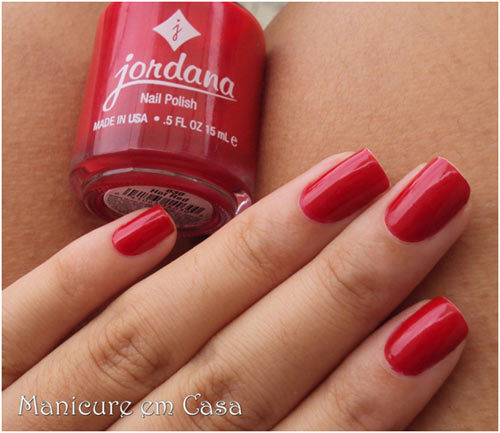 Jordana Hot Red Nail Polish Pinit