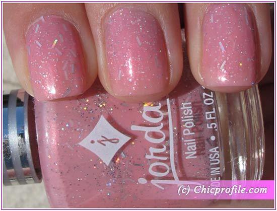 Light Pink Glitter Nail Polish This Light Pink Nail Polish