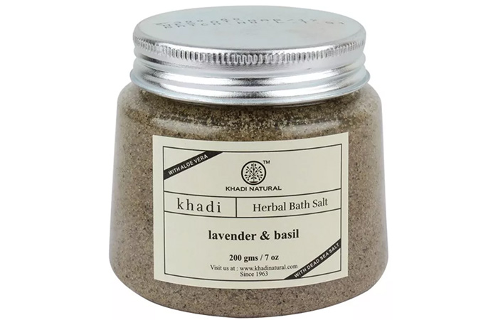 Khadi Natural Lavender And Basil Herbal Bath Salt - Best Bath Salts