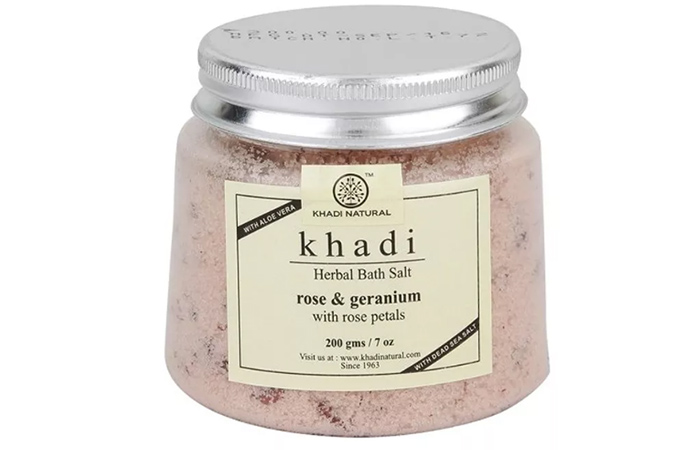 Khadi Natural Rose And Geranium Herbal Bath Salt - Best Bath Salts