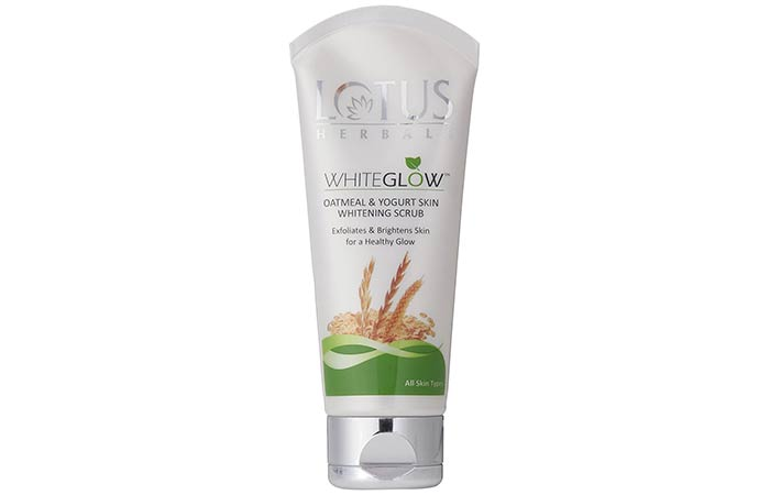 Lotus Herbal Whiteglow Oatmeal And Yogurt Skin Whitening Scrub - Lotus Herbals Skin Care Products