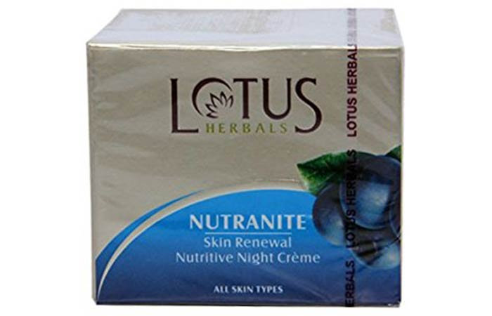 Lotus Herbals Nutranite Skin Renewal Nutritive Night Creme - Lotus Herbals Skin Care Products