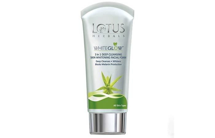 Lotus Herbals Whiteglow 3 in 1 Deep Cleansing Skin Whitening Facial Foam