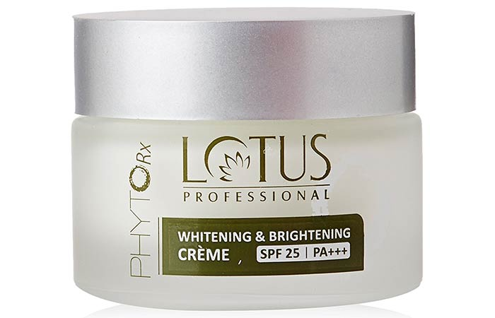 Lotus Professional Whitening And Brightening Creme - Lotus Herbals Skin Care Products