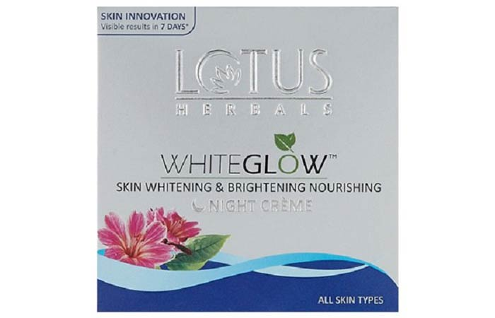 Lotus Whiteglow Night Creme - Lotus Herbals Skin Care Products