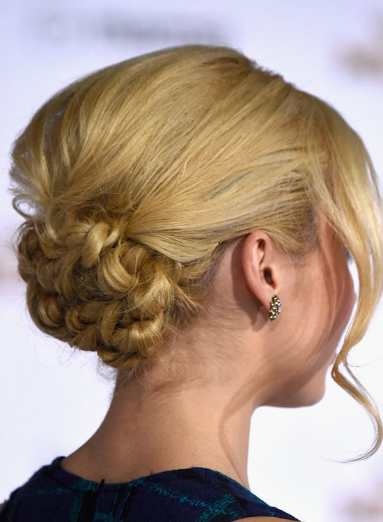 Low-Flowery-Bun-with-Puffy-Crown-and-Wavy-Bang