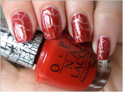 Best Crackle Nail Polishes - 8. OPI Red Shatter