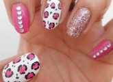Pink Skittlette Nail art Tutorial