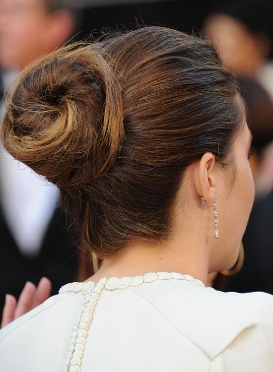 Semi-High-Spiral-Bun-with-Slightly-Messy-Finish