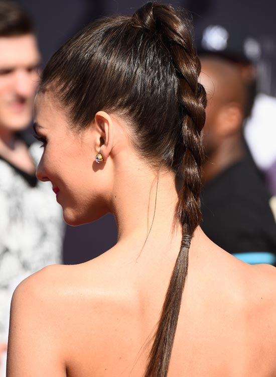 Sleek-High-Braided-Ponytail-with-Hair-Wrap