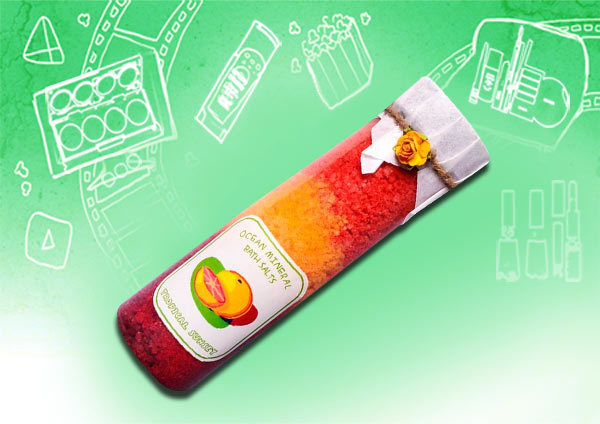 Soulflower Tropical Sunset Ocean Mineral Bath Salt
