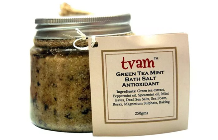 Tvam Green Tea Mint Bath Salt - Best Bath Salts