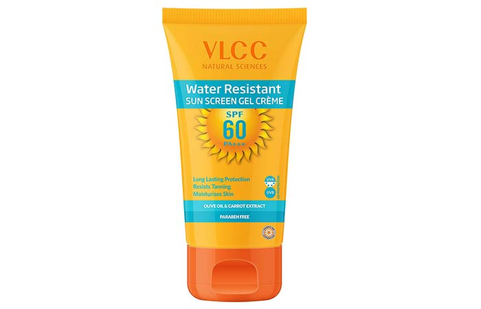 Water Resistant Sun Screen Gel Creme - VLCC Beauty Products