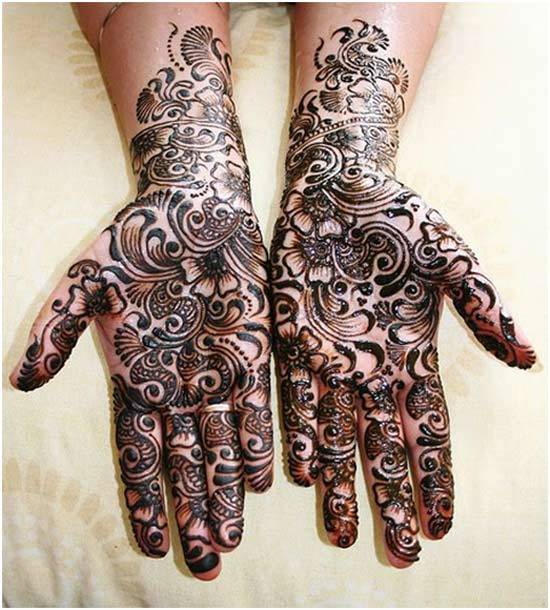 arabic mehndi designs black
