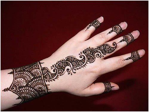 bridal mehndi designs for left hand