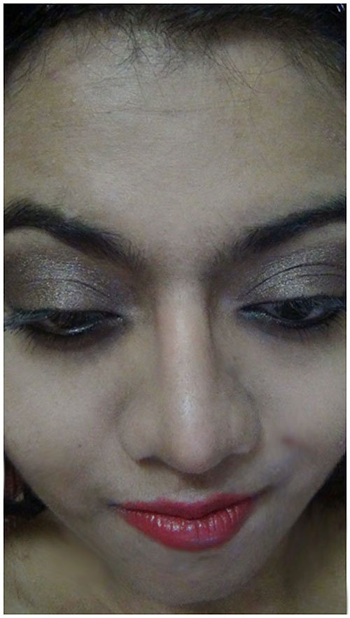 burnt copper eye shadow