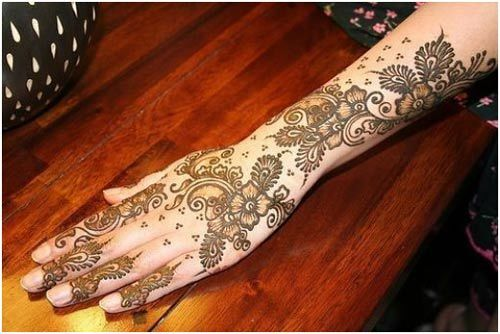 choice of bridal mehandi designs